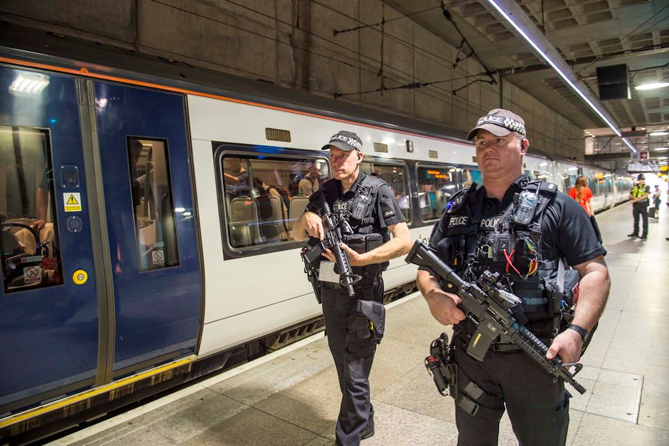 Deployment guarding the Stansted Express, Photo: MDP Photographer, Paul Kemp. All rights reserved