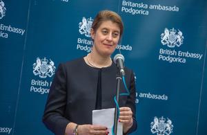 British Ambassador Alison Kemp