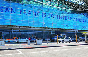 Entrance of San Francisco International Airport