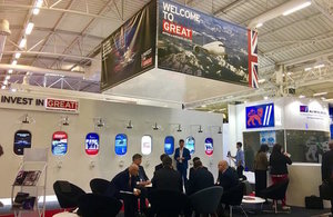 UK stand at the Paris Air Show