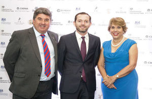 Ambassador Chris Campbell, Deputy Head of Mission Matthew Webb and Director of International Trade Leonora Dipp.