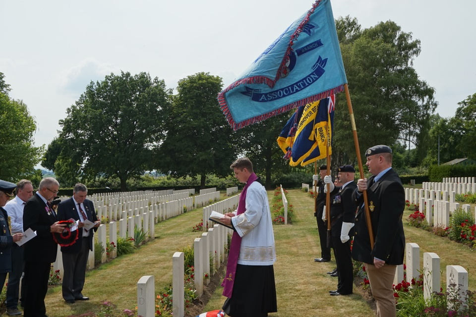 Reverend Father (Flt Lt) James Mealy delivers the service of rededication (Crown Copyright) All rights reserved
