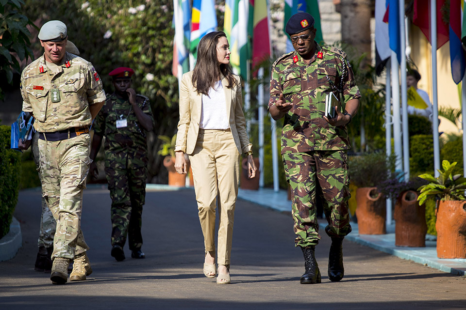 News story: Angelina Jolie visits British military team in Kenya