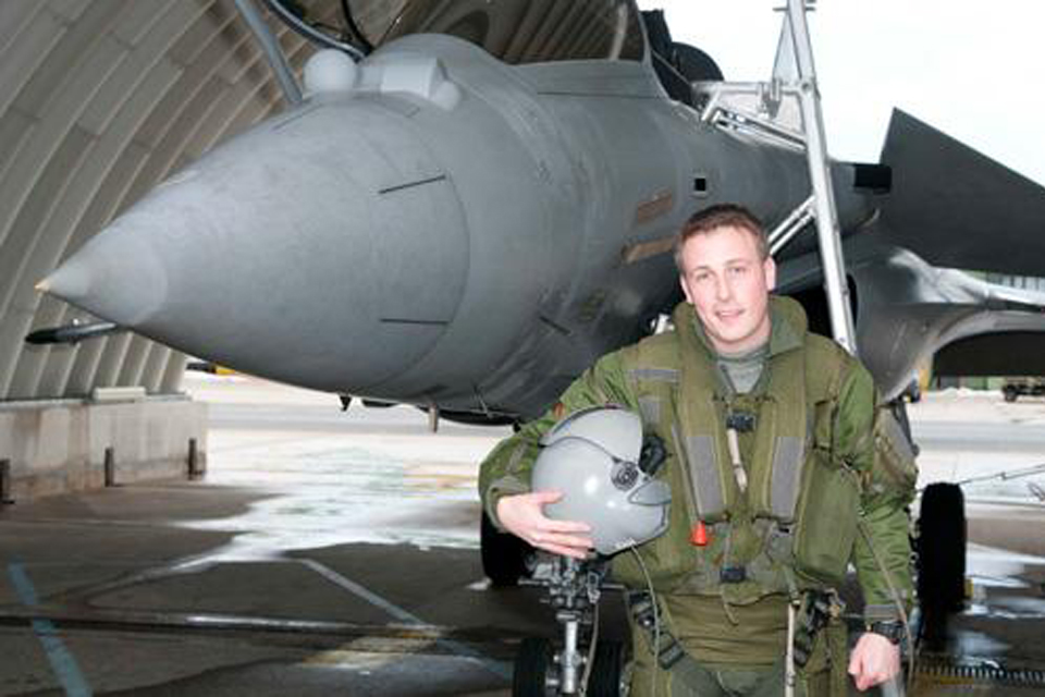 RAF Typhoon pilot Flight Lieutenant Matt 'Johno' Johnstone