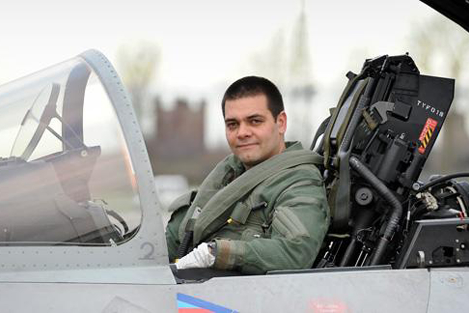 French Air Force Rafale pilot Captain Marc-Antoine Gerard