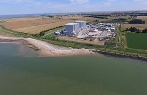 Bradwell nuclear site in Essex