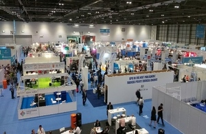 Public Sector Show exhibition area in 2016