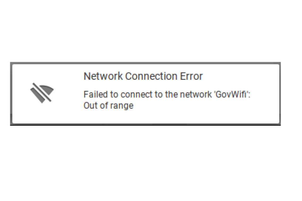 Connect to GovWifi using a Chromebook - GOV UK