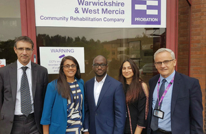 Sam Gyimah and probation centre staff