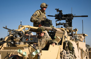 Members of the Household Calvary Regiment during a mounted patrol in Gereshk, Helmand province, in 2011 (library image) [Picture: Sergeant Russ Nolan, Crown Copyright/MOD 2011]
