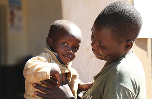 A mother and baby at a health centre in Njombe region, Tanzania.