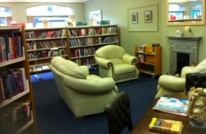 Inside Alford library