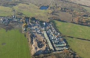 An aerial photo of the Baldwins Farm site, taken on 29 November 2016 after the offences had occurred.