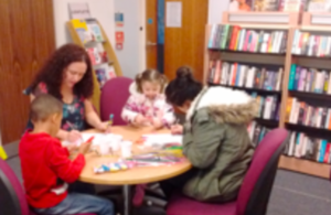 Craft session in Castle Vale library