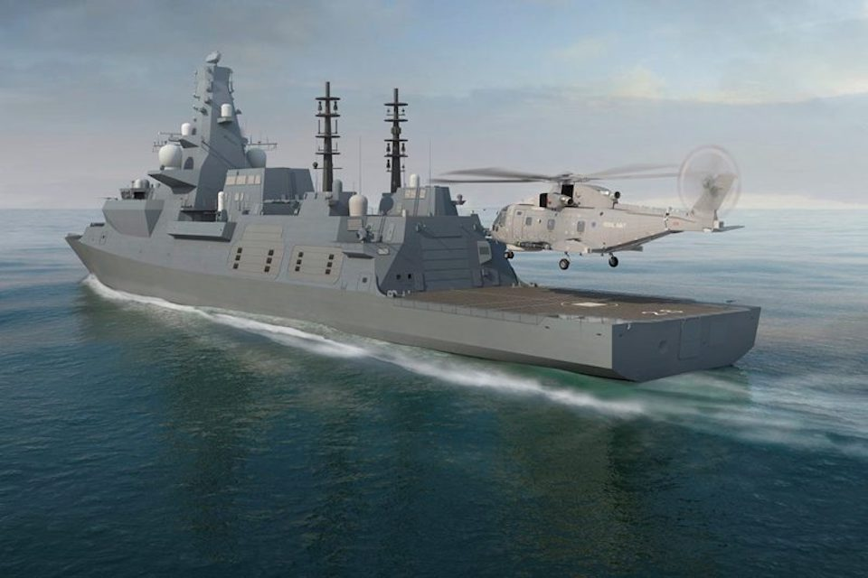 The Royal Navy's new Type 26 frigate.