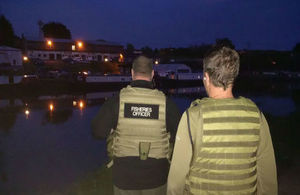 Our fisheries enforcement officers can tackle illegal fishing at night as well as the day time