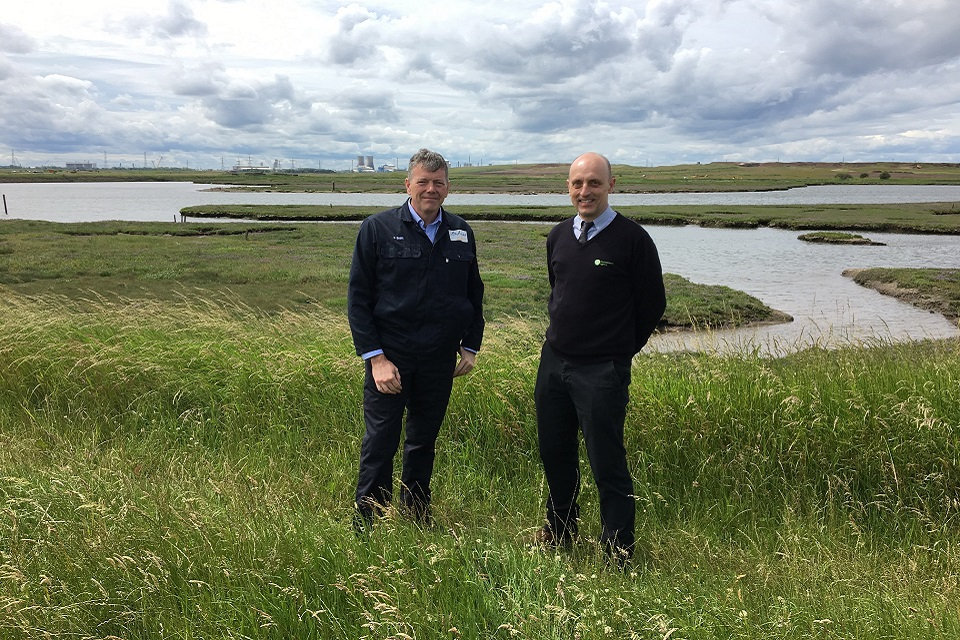 Image shows Daren Smith, SABIC site director, and Phil Marshall, Environment Agency Senior Advisor