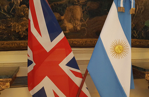 Argentine and UK flags
