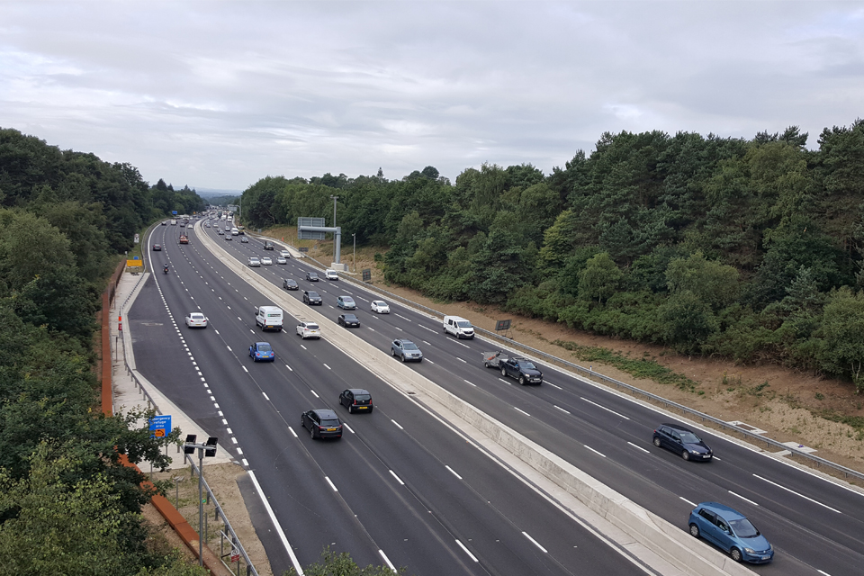 image showing the new M3 smart motorway
