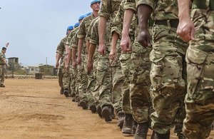 British troops continue to provide support to the UN Mission in South Sudan (UNMISS). Crown copyright.