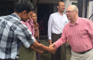 Alistair Burt pictured during his visit to Burma. Picture: DFID
