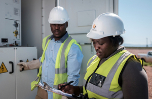Workers at a Globeleq Africa power plant in Tanzania, supported by CDC investment. Picture: CDC