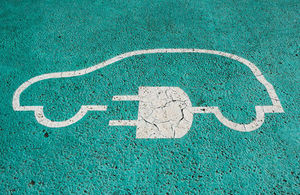 Parking space for an electric vehicle charging space.
