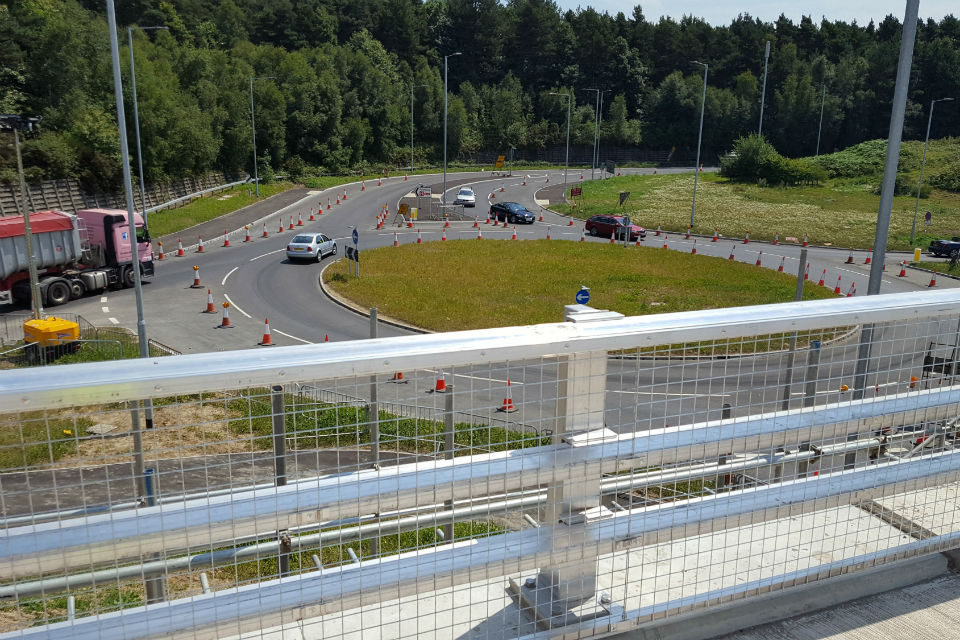 Image of the new flyover at the Longfield Road junction