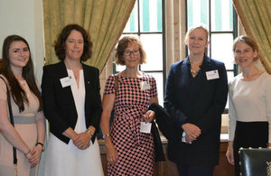 Sellafield Ltd's Charlotte Page and Rebecca Weston joined other speakers at the House of Commons event