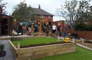 The Sellafield Ltd workers recently undertook a DIY SOS-style garden-makeover