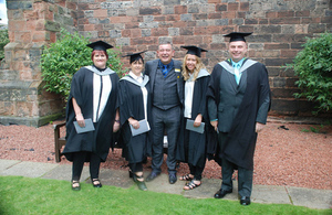 Employees from the Sellafield nuclear site are the first in the UK to graduate with a BSc (Hons) Degree in radiation protection