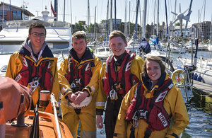 Lifeboat appeal gets a boost from Sellafield apprentices