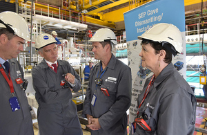 Minister praises Sellafield's 'world-class workforce'