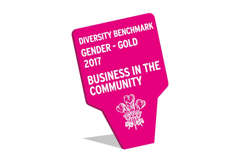 Business in the Community Diversity Benchmark: Gender gold award. All rights reserved