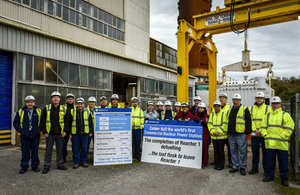 Workers at Sellafield's Calder Hall have now finished unloading fuel from the second of its four reactors