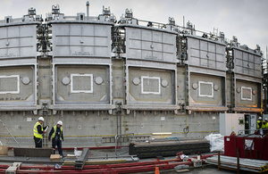 The six stainless steel doors will be key to unlocking the contents of one of Sellafield's most hazardous buildings