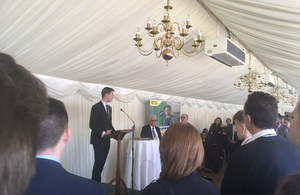A Sellafield engineer fired up a group of young trainees with an inspirational speech at a House of Commons event