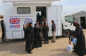 UK aid funded mobile medical clinic in Mosul, Iraq. Picture: IOM