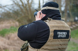 An Environment Agency fisheries enforcement officer during a patrol