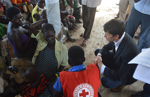 Rory Stewart meets South Sudanese refugees in Uganda