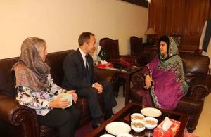 British High Commissioner with Ms Raheela Hameed Khan Durrani,Speaker of the Balochistan Assembly.