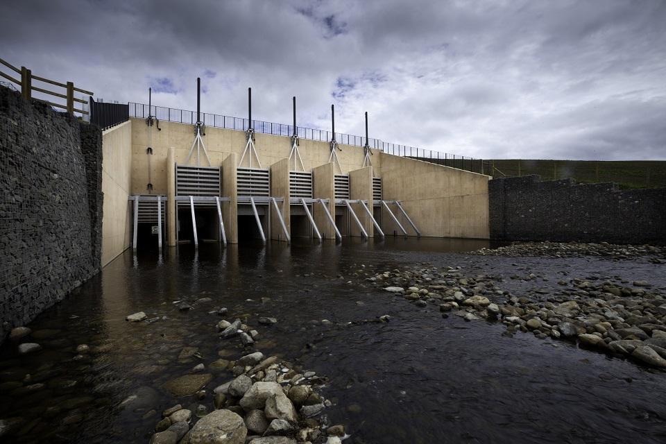 Image shows Mitford dam