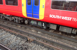The train and traction equipment involved