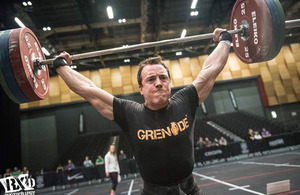 James St Leger competing at CrossFit games