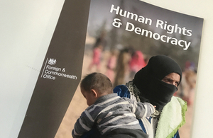 Human Rights and Democracy Report front cover