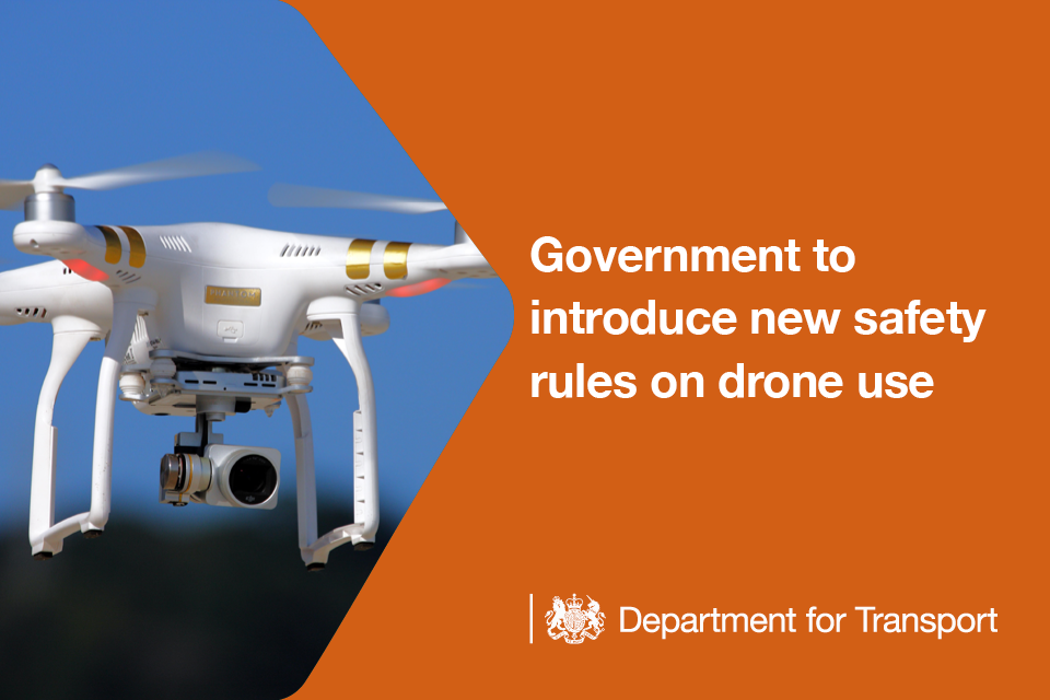 Government to introduce new safety rules on drone use.