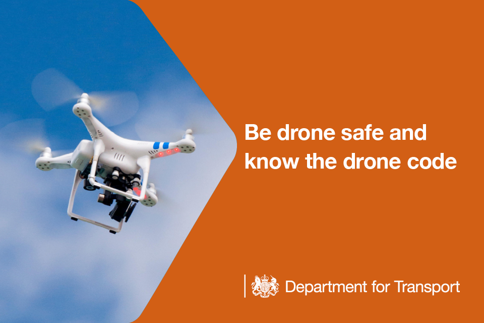 Be drone safe and know the drone code.