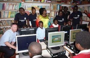 Computers donated by Chevening Alumni Zambia