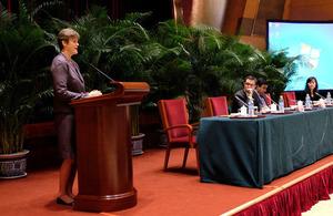British Ambassador to China Dame Barbara Woodward delivered a keynote address.