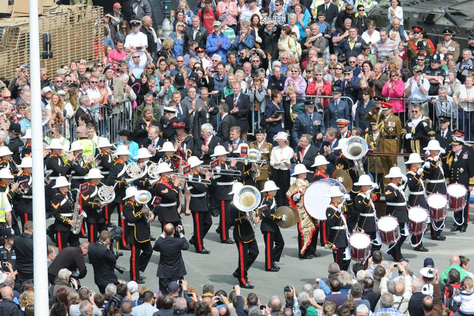 A Royal Marines band
